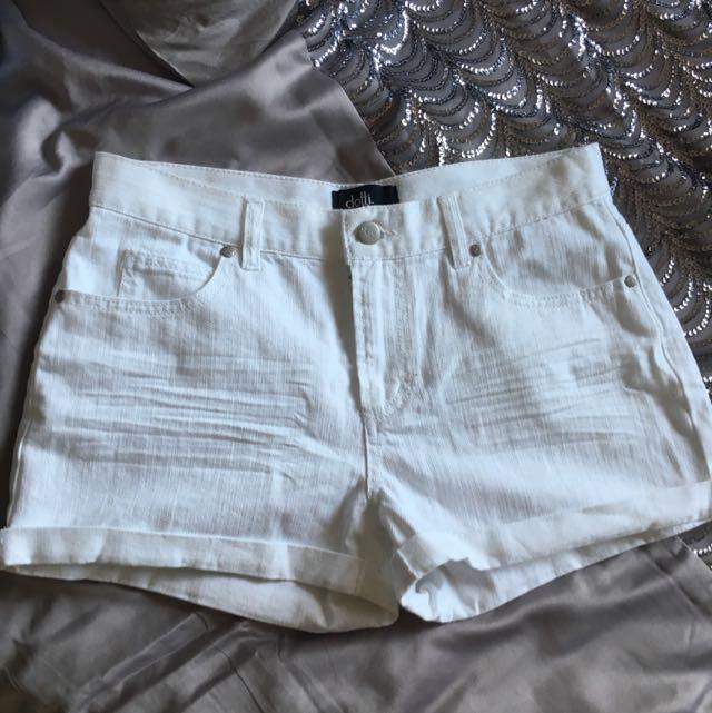 Dotti White Denim Shorts