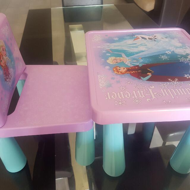 frozen plastic table