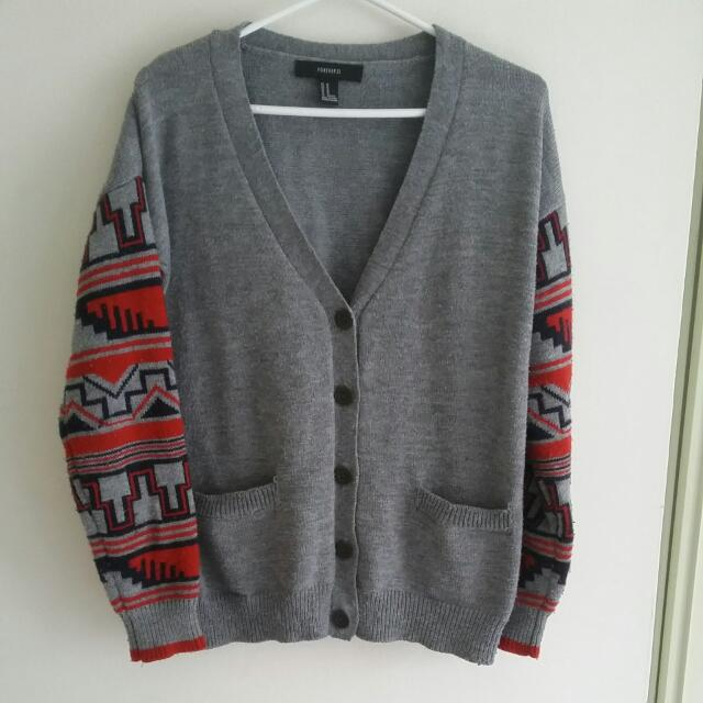 Grey Forever 21 Sweater