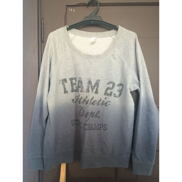 Grey Sweatshirt With Slogan