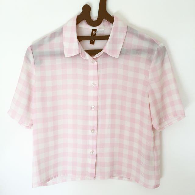 H&M Chekered Pink Pastel
