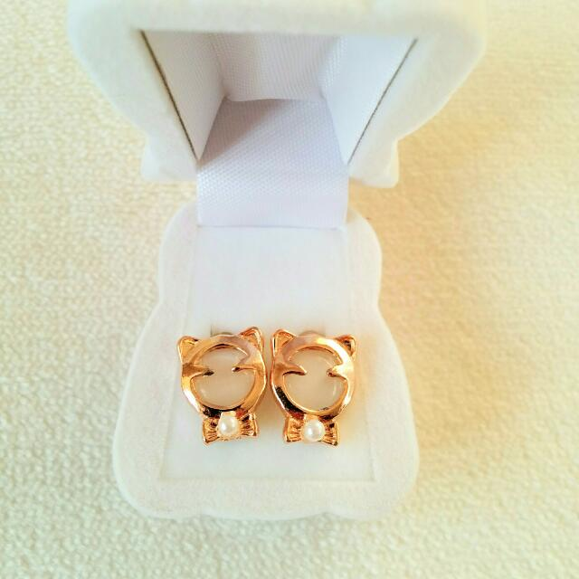 Kids Earrings In Velvet Holiday Teddy Bear Jewellery Box