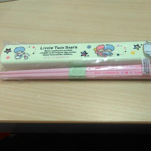 Kiki&Lala雙子星~日本製附盒環保筷子#居家生活好物