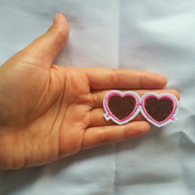 Love Glasses Brown Iron Patch