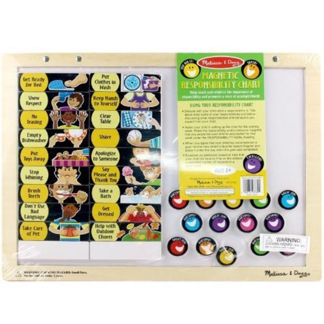 Brand new melissa doug magnetic responsibility chart babies