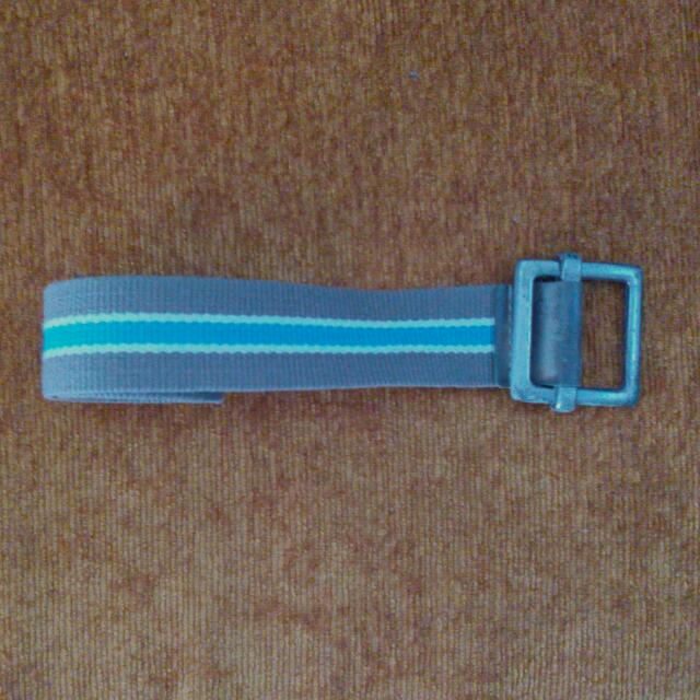 Men's Green Canvas Belt