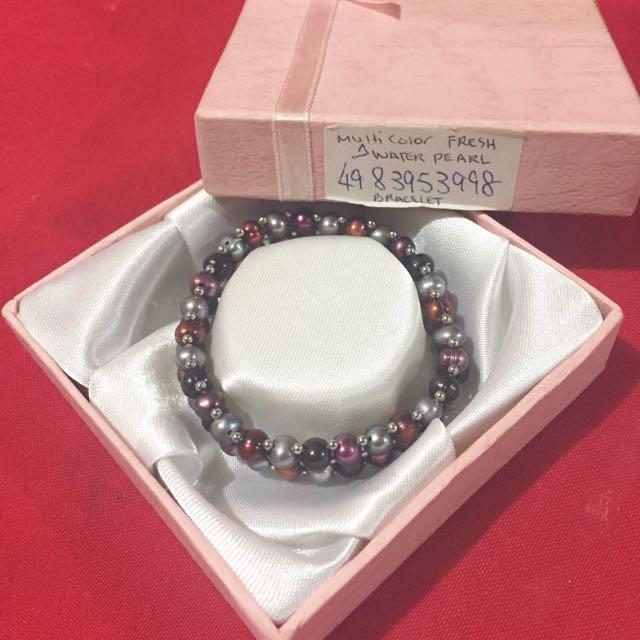 Multi Color Fresh Water Pearls ( BRACELET )