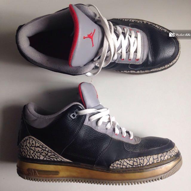 59c044f5b3be Nike Air Jordan Force 3 Black Cement