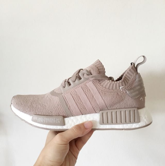 new styles 7132a 72c76 *On Hand* UK7.5 Adidas NMD R1 French Beige Vapour Grey