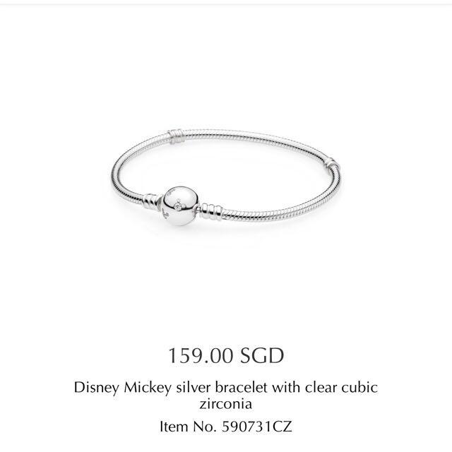 f13837df7 Pandora Disney Mickey Silver Bracelet With Clear Cubic Zirconia ...