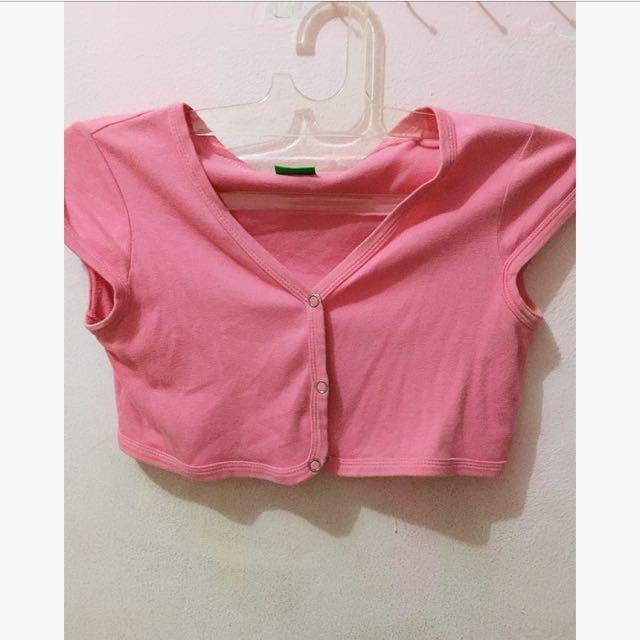 pink croptee