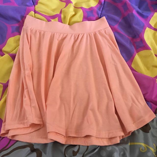 Preloved Flare Skirt Peach