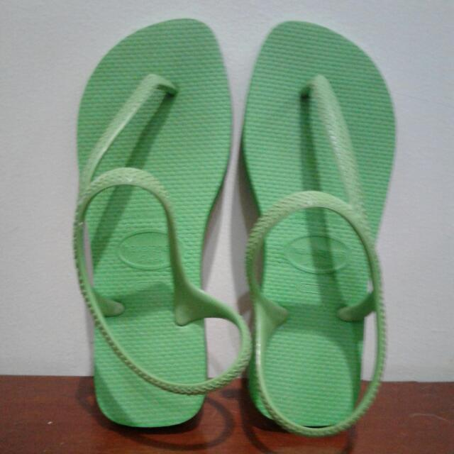 Preloved Flash Green Havaianas  Sandal