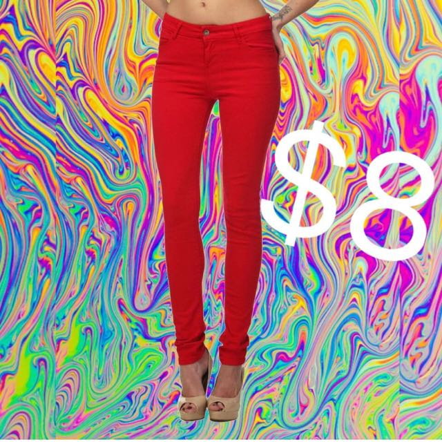 Red Witchery Jeans