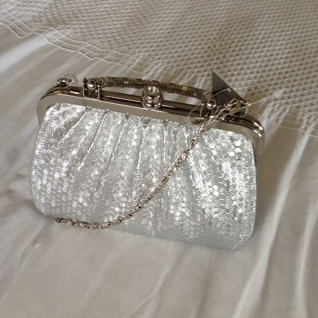 Silver Night Out Purse