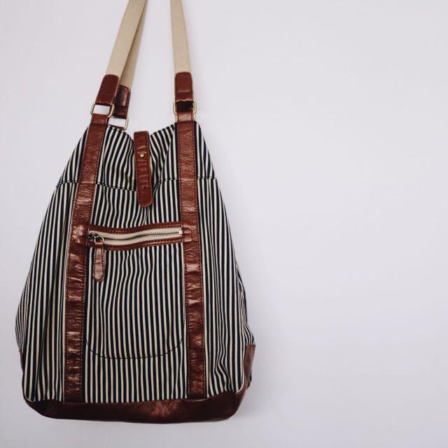Striped Nautical H&M Bag