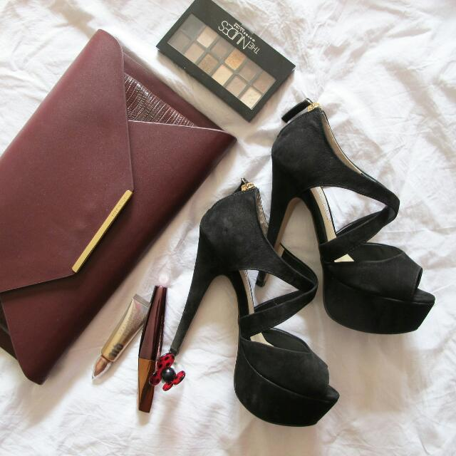 Sz 6 Tony Bianco Platform Black Heels