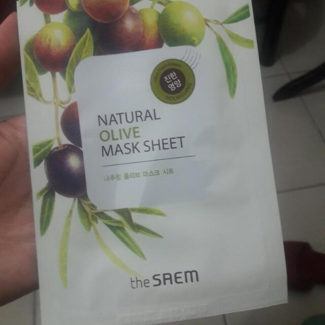 The Saem Olive Mask Sheet Php100 2 pcs left