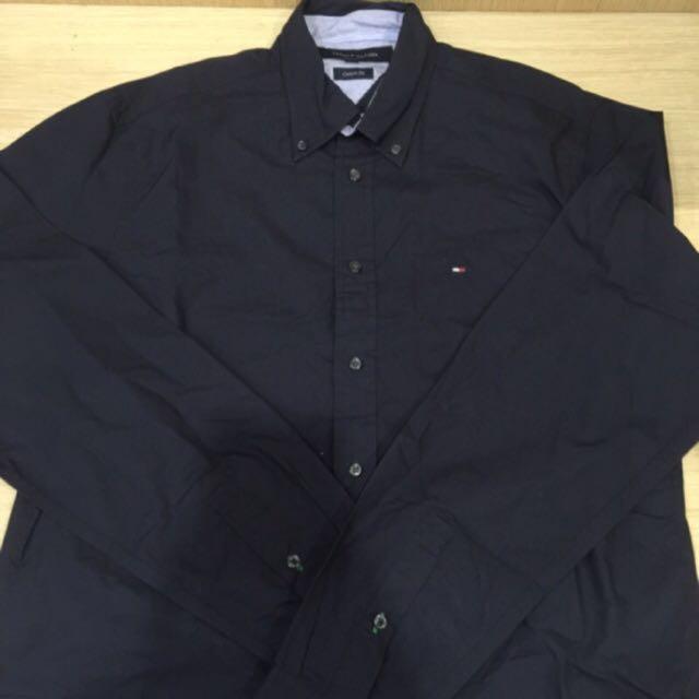 Tommy 襯衫 S號 深藍色 99%新