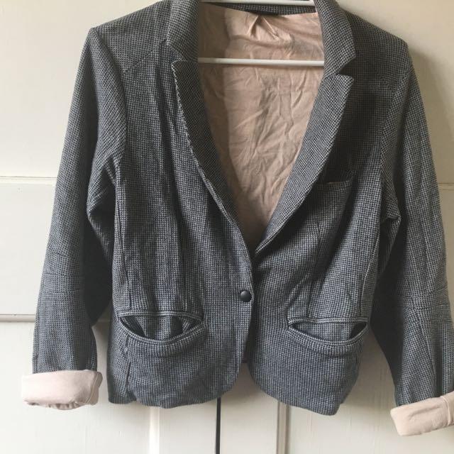 Topshop houndstooth Jacket Size M 12-14