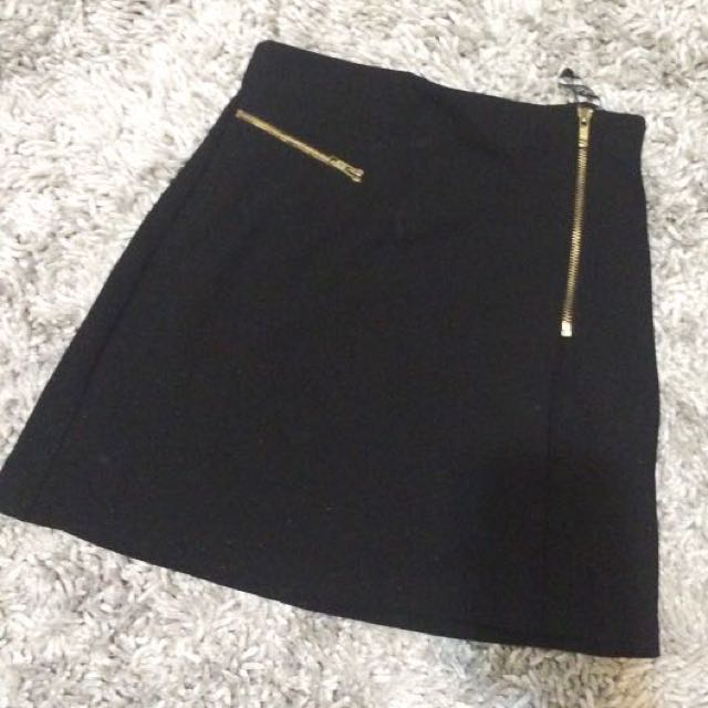 TOPSHOP Zipper Mini Skirt