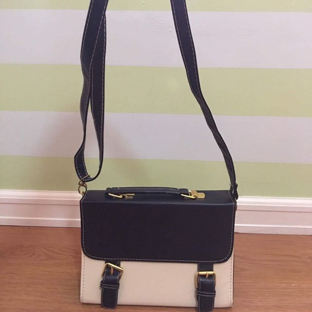 Two Tone Cross Body Bag