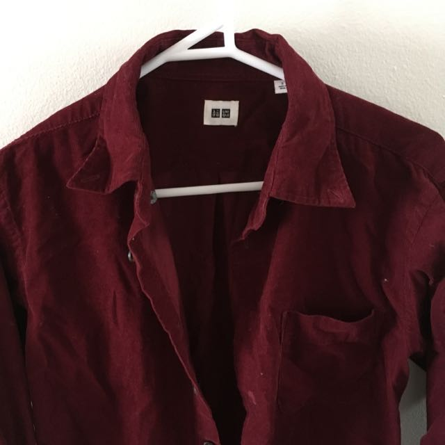 UNIQLO Velvet Button Up Shirt