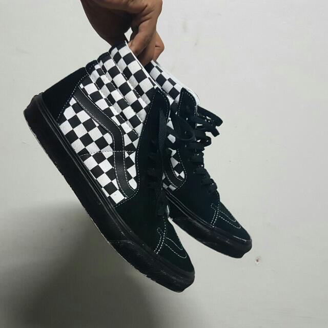 71b6cf833dd9af Vans High cut black  DIY Black sole
