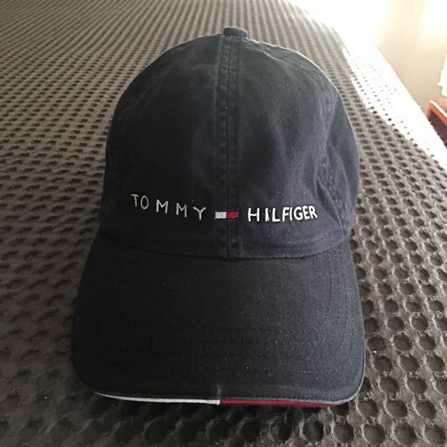 Vintage Tommy Hilfiger Baseball Cap-Navy