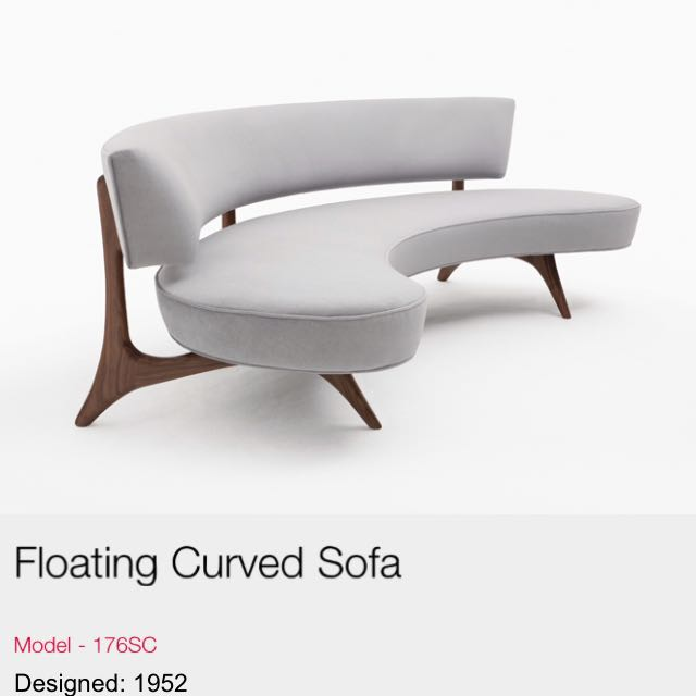 Kagan Floating Curved Sofa Replica