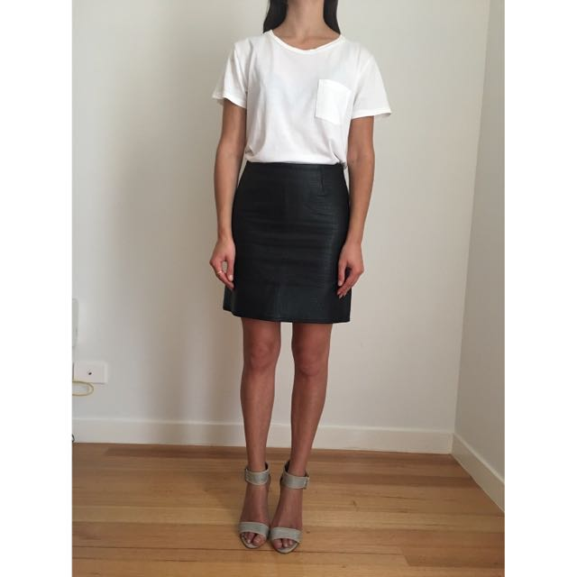 Witchery Leather Look Skirt