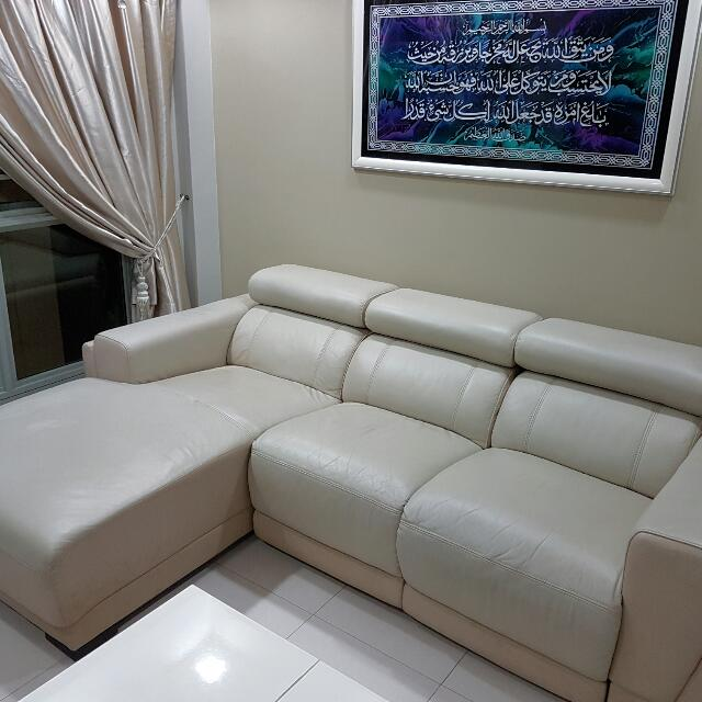X'CLUSIVE HOME L SHAPED SOFA WITH MECHANISED RECLINER (3 ... on