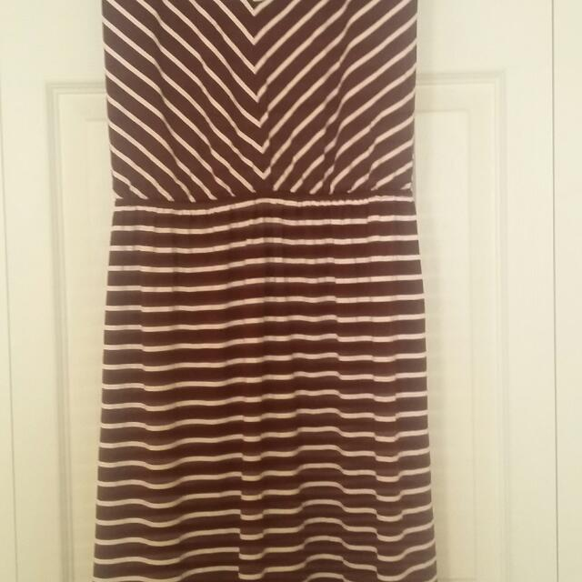 Xl Bnwt Maroon?/white Dress