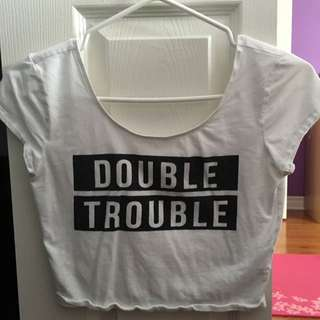 Garage Double Trouble Crop Top