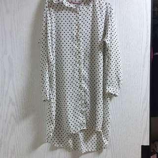 雪紡點點長版襯衫(可內搭)