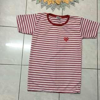 T Shirt -Stripe Red