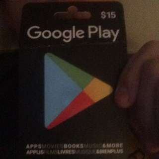 15$ Google Playgift Card