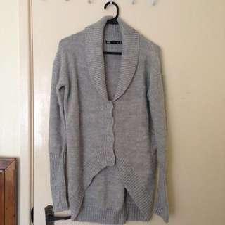 Dotti Grey Wool Cardigan