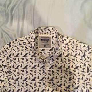 Graphic Button Down Polo Shirt