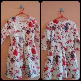 Fuschia Floral Mini Dress