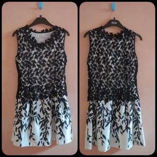 Lace Black Mini Dress