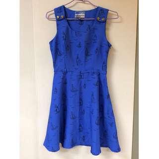 帆船藍洋裝