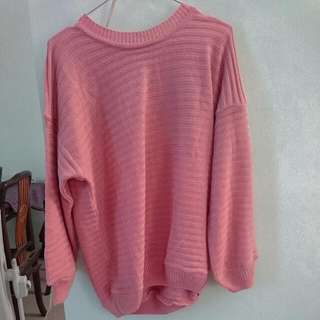 Promo Sweater Dusty PINK By Lady Fame Fit To L