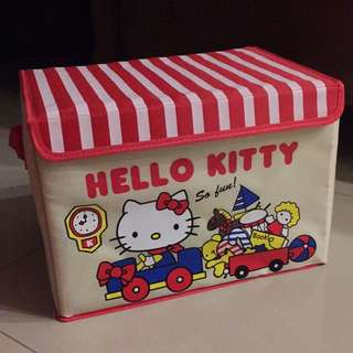 Kitty有蓋收納箱