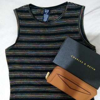 GAP  S  Black Glitter Sleeveless Shirt  wallet Not Included