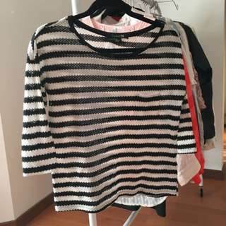 Forever 21 Woven Striped Top