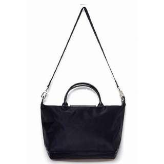 Authentic Longchamp Le Pliage Neo Tote Bag (Black)