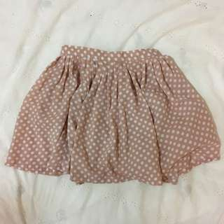 Quirky Circus Pink/White Spotted Skirt - Size 8