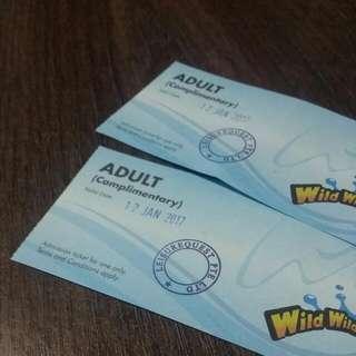 2x Wild Wild Wet Tickets