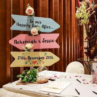 FOR RENT: Custom Table-Top Directional Signage